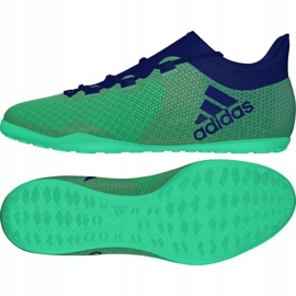 Adidas X Tango 17.3 IN M CP9142 beltéri cipő zöld 2