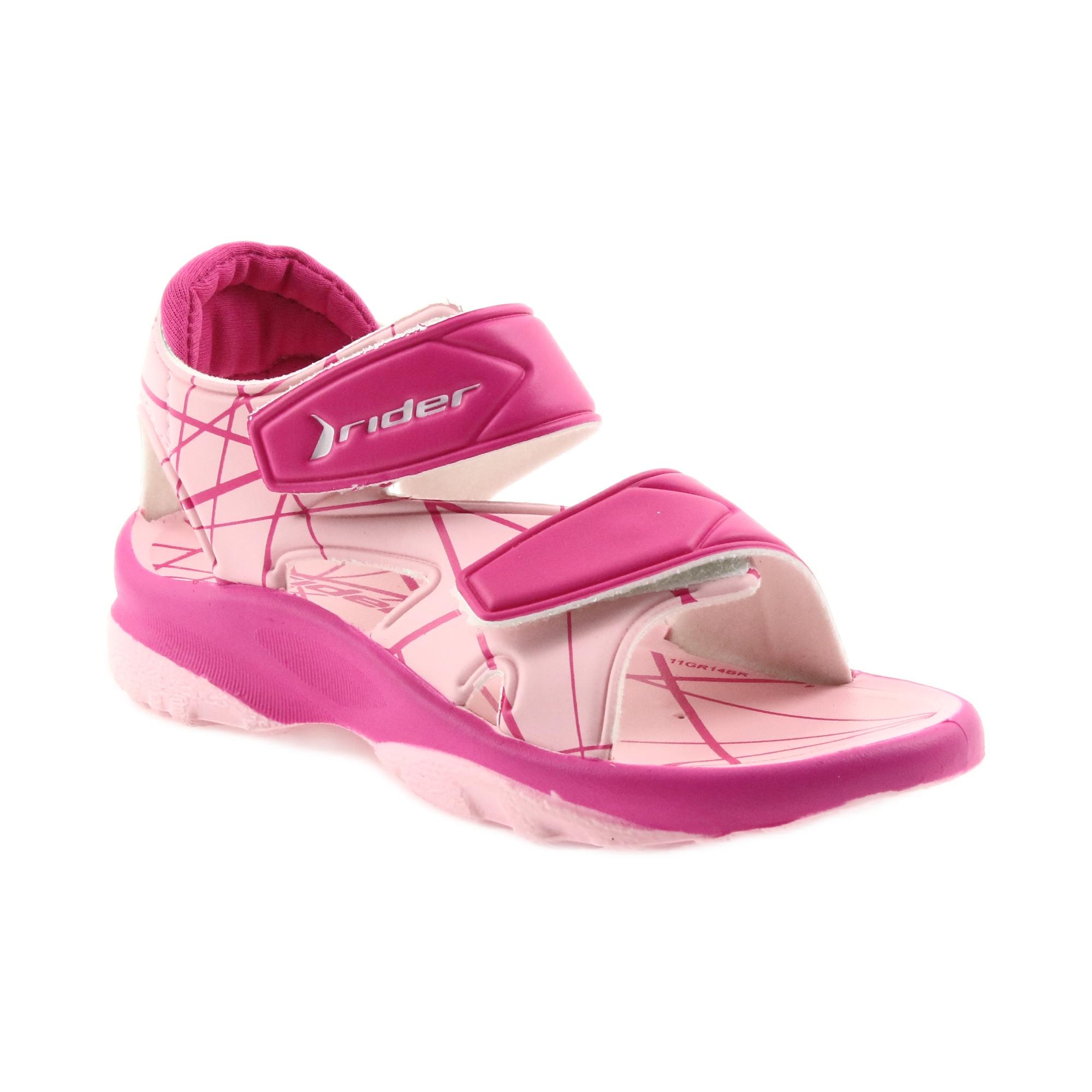 Rózsaszín szandál gyermek tépőzáras cipő Rider 488 vízhez
