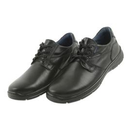 Badura alacsony cipő férfi kényelem 3509 fekete ButyModne.pl