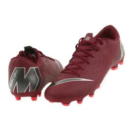 Nike Mercurial Vapor 12 Academy FG M AH7375-606 futballcipő burgundia piros 5