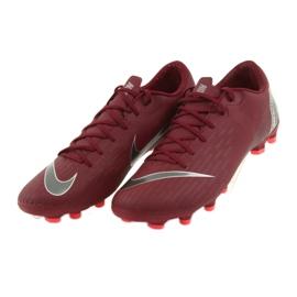 Nike Mercurial Vapor 12 Academy FG M AH7375-606 futballcipő burgundia piros 4