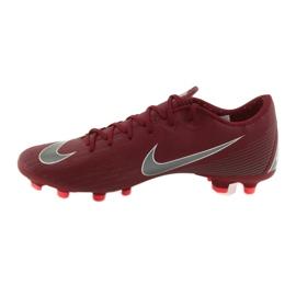 Nike Mercurial Vapor 12 Academy FG M AH7375-606 futballcipő burgundia piros 2