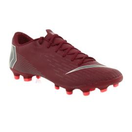 Nike Mercurial Vapor 12 Academy FG M AH7375-606 futballcipő burgundia piros 1