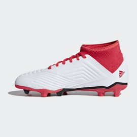 Adidas Predator 18.3 Fg Jr CP9011 futballcipő fehér fehér, piros 1
