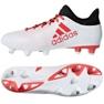 Adidas X 17.3 Sg M CP9202 futballcipő fehér fehér, piros 2