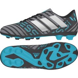 Adidas Nemeziz 17.4 FxG Junior CP9211 cipő szürke / ezüst, többszínű sokszínű 2