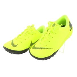 Nike Mercurial VaporX 12 Academy Tf Jr AH7353-701 futballcipő sárga 3