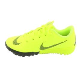 Nike Mercurial VaporX 12 Academy Tf Jr AH7353-701 futballcipő sárga 2