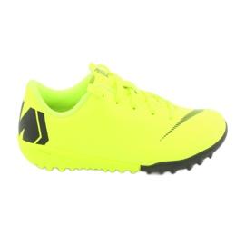 Nike Mercurial VaporX 12 Academy Tf Jr AH7353-701 futballcipő sárga sárga 1