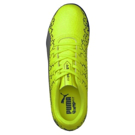 Futballcipő Puma Evo Power Vigor 4 Graph It Jr. 104467 02 sárga sokszínű 3