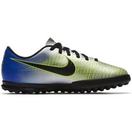 Nike MercurialX Vortex Iii Neymar Tf Jr 921497-407 futballcipő kék, szürke / ezüst kék 1