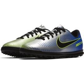 Nike MercurialX Vortex Iii Neymar Tf Jr 921497-407 futballcipő kék, szürke / ezüst kék 2