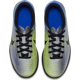 Nike MercurialX Vortex Iii Neymar Tf Jr 921497-407 futballcipő kék, szürke / ezüst kék 3