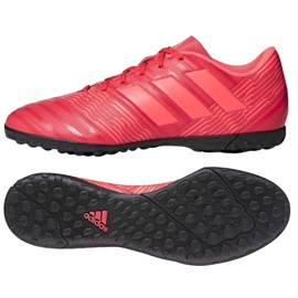 Adidas Nemeziz Tango 17.4 Tf M CP9060 futballcipő piros sokszínű 2