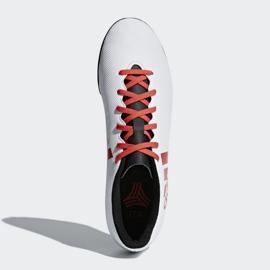 Adidas X Tango 17.4 Tf Jr CP9044 futballcipő fehér, piros fehér 1