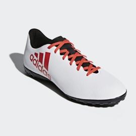 Adidas X Tango 17.4 Tf Jr CP9044 futballcipő fehér, piros fehér 2
