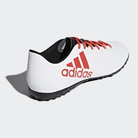 Adidas X Tango 17.4 Tf Jr CP9044 futballcipő fehér, piros fehér 3