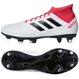 Adidas Predator 18.3 Sg CP9305 futballcipő fehér, piros fehér 2