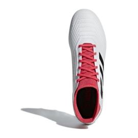 Adidas Predator 18.3 Sg CP9305 futballcipő fehér, piros fehér 3