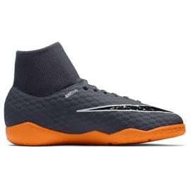 Nike Hyphantomx 3 Academy Df Ic Jr AH7291-081-S futballcipő szürke szürke 1