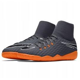Nike Hyphantomx 3 Academy Df Ic Jr AH7291-081-S futballcipő szürke szürke 3