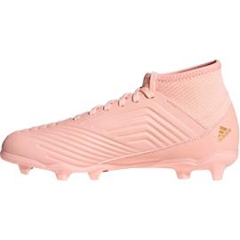 Foci csizma adidas Predator 18.3 Fg Jr DB2317 rózsaszín rózsaszín 1