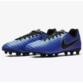 Labdarúgás cipő Nike Jnr Tiempo Legend 7 Club Mg Jr AO2300-400 kék sötétkék 3