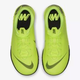 Nike Mercurial VaporX 12 Academy Tf Jr AH7353-701 futballcipő sárga sárga 8