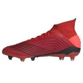 Adidas Predator 19.1 Fg M BC0552 futballcipő piros sokszínű 1