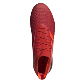 Adidas Predator 19.1 Fg M BC0552 futballcipő piros sokszínű 2