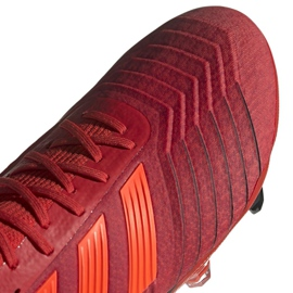 Adidas Predator 19.1 Fg M BC0552 futballcipő piros sokszínű 3