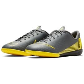 Nike Mercurial VaporX 12 Academy Gs Ic Jr AJ3101-070 beltéri cipő szürke szürke 3