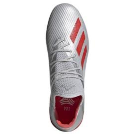 Adidas X 19.1 Tf M G25752 futballcipő piros, szürke / ezüst ezüst 2