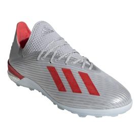 Adidas X 19.1 Tf M G25752 futballcipő piros, szürke / ezüst ezüst 3