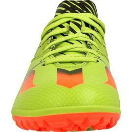 Adidas Messi 15.3 Tf M S74696 futballcipő zöld zöld 2