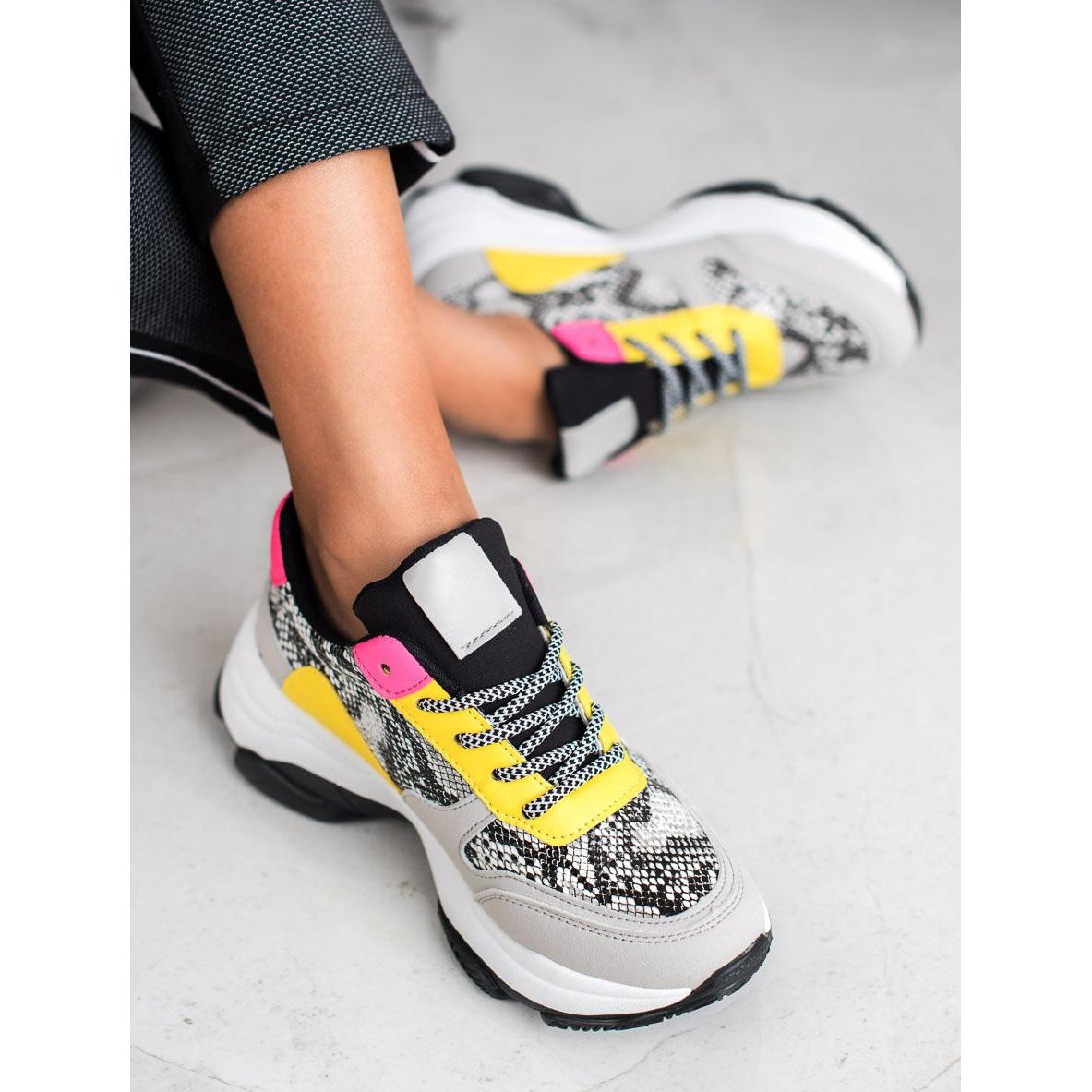 SHELOVET Színes cipők kígyó nyomtatás sokszínű