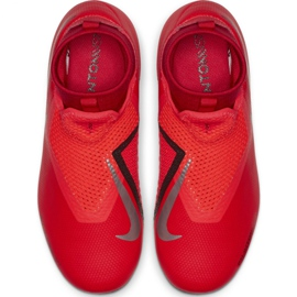 Labdarúgás cipő Nike Phantom Vsn Academy Df FG / MG Jr AO3287-600 piros piros 1