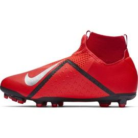 Labdarúgás cipő Nike Phantom Vsn Academy Df FG / MG Jr AO3287-600 piros piros 2