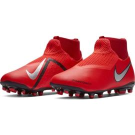 Labdarúgás cipő Nike Phantom Vsn Academy Df FG / MG Jr AO3287-600 piros piros 3