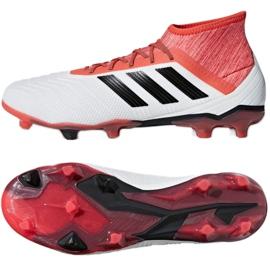 Adidas Predator 18.2 Fg M CM7666 futballcipő fehér fehér, piros 2