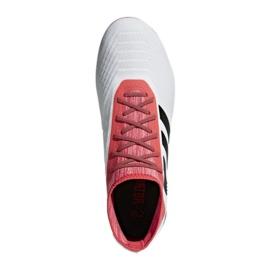 Adidas Predator 18.2 Fg M CM7666 futballcipő fehér fehér, piros 3