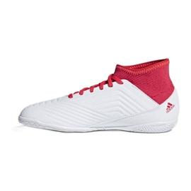 Adidas Predator Tango 18.3 Jr CP9073 beltéri cipő fehér, piros fehér 1