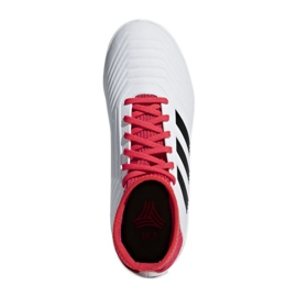 Adidas Predator Tango 18.3 Jr CP9073 beltéri cipő fehér, piros fehér 2