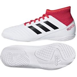 Adidas Predator Tango 18.3 Jr CP9073 beltéri cipő fehér, piros fehér 3