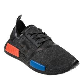 Fekete MD01A-6 sportcipő 1