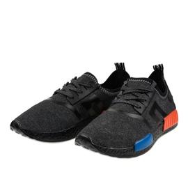 Fekete MD01A-6 sportcipő 2