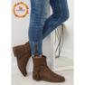 Barna női cipő 4169 Khaki kép 1