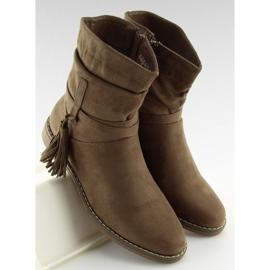 Barna női cipő 4169 Khaki 2