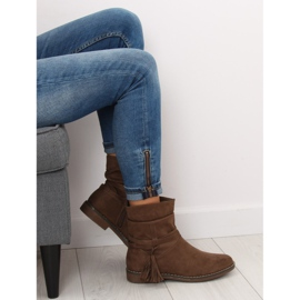 Barna női cipő 4169 Khaki 7