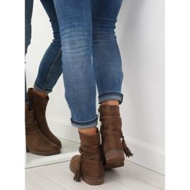 Barna női cipő 4169 Khaki 4